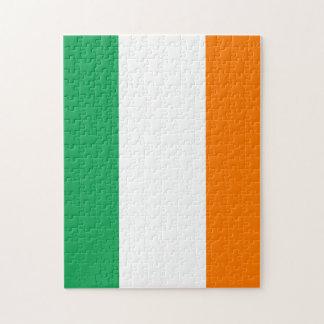 La bandera de Irlanda, tricolor irlandés Rompecabezas Con Fotos