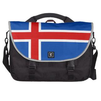 La bandera de Islandia Bolsas De Portatil