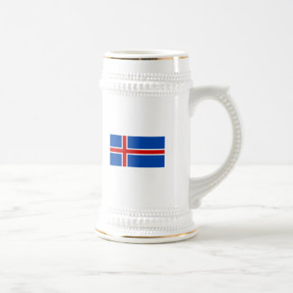 La bandera de Islandia Jarra De Cerveza