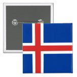 La bandera de Islandia Pins