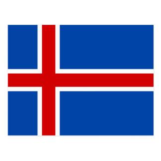 La bandera de Islandia Postal