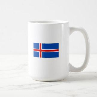 La bandera de Islandia Taza Clásica