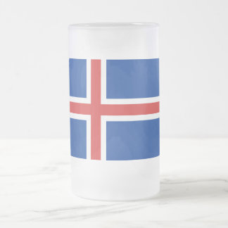 La bandera de Islandia Taza De Cristal