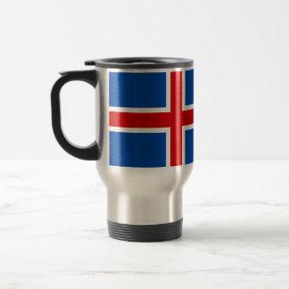 La bandera de Islandia Taza De Viaje