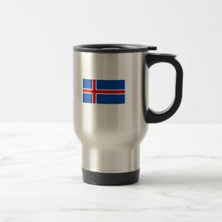 La bandera de Islandia Taza Térmica