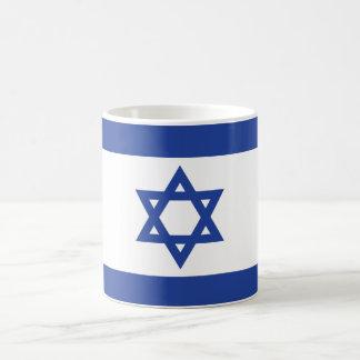 La bandera de Israel Taza