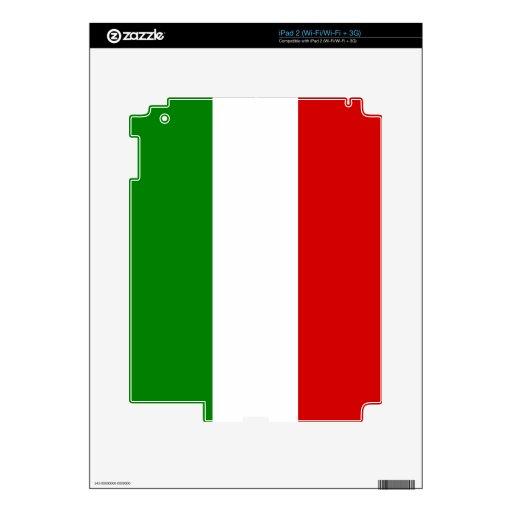 La bandera de Italia Calcomanías Para El iPad 2