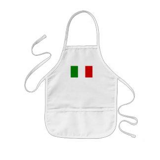 La bandera de Italia Delantal