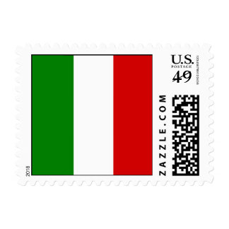 La bandera de Italia Estampilla