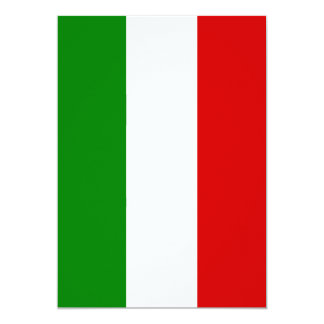 La bandera de Italia Invitación 12,7 X 17,8 Cm