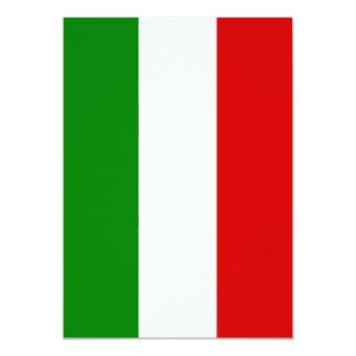 """La bandera de Italia Invitación 5"""" X 7"""""""