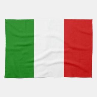 La bandera de Italia Toallas De Cocina