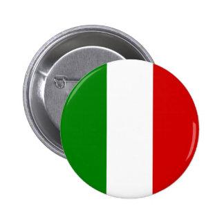La bandera de Italia Pin Redondo De 2 Pulgadas