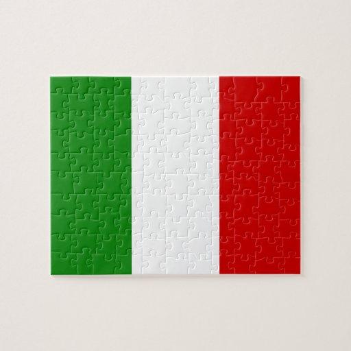 La bandera de Italia Rompecabezas Con Fotos