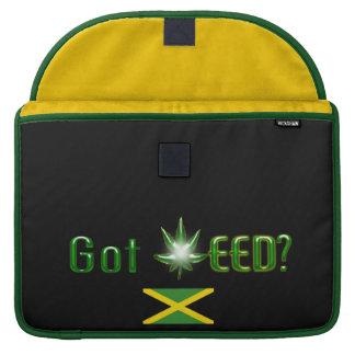 La bandera de Jamaica consiguió la mala hierba Funda Macbook Pro