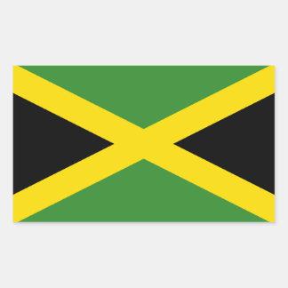 La bandera de Jamaica Rectangular Pegatinas