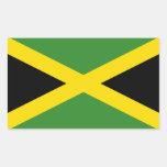 La bandera de Jamaica Pegatina Rectangular