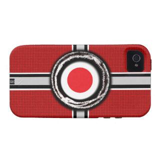 La bandera de Japón graba en relieve la caja dura  iPhone 4/4S Fundas