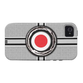 La bandera de Japón graba en relieve la caja dura  Case-Mate iPhone 4 Fundas