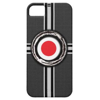 La bandera de Japón graba en relieve la caja negra iPhone 5 Case-Mate Funda