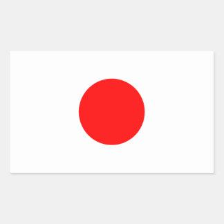 La bandera de Japón Pegatina Rectangular