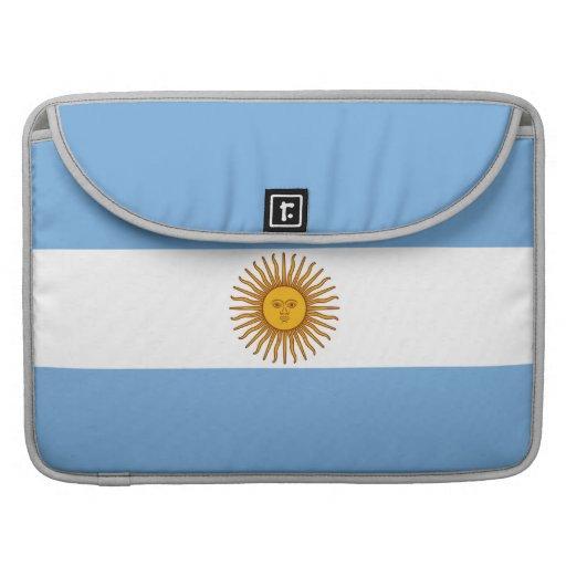 La bandera de la Argentina Funda Macbook Pro