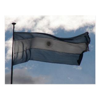 La bandera de la Argentina Postales