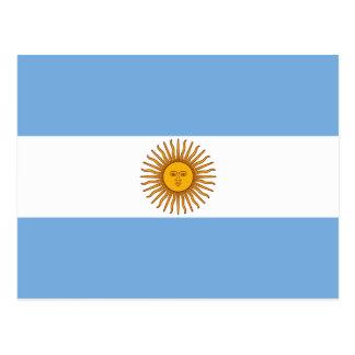 La bandera de la Argentina Tarjeta Postal