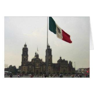 La Bandera de la estafa del EL Zocalo del DF del e Tarjetón