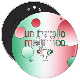 La bandera de la O.N.U Fratello Magnifico Italia c Pin Redondo 15 Cm