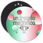La bandera de la O.N.U Fratello Magnifico Italia Pin Redondo De 6 Pulgadas