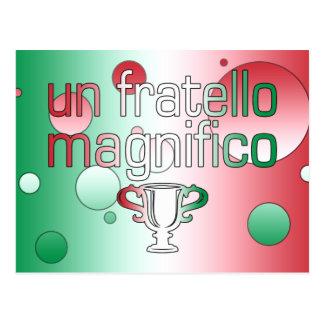 La bandera de la O.N.U Fratello Magnifico Italia Postal