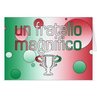 La bandera de la O.N.U Fratello Magnifico Italia Tarjeta De Felicitación