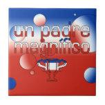 La bandera de la O.N.U Padre Magnífico Chile color Tejas Cerámicas