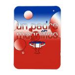 La bandera de la O.N.U Padre Magnífico Chile color Imanes
