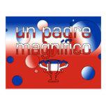 La bandera de la O.N.U Padre Magnífico Chile color Postales
