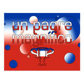 La bandera de la O.N.U Padre Magnífico Chile Postal