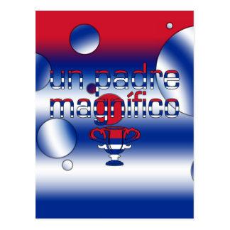 La bandera de la O.N.U Padre Magnífico Cuba Postal