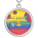 La bandera de la O.N.U Padre Magnífico Ecuador col Grimpola