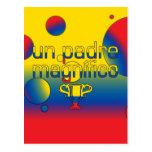 La bandera de la O.N.U Padre Magnífico Ecuador Postal