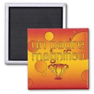 La bandera de la O N U Padre Magnífico España colo Imanes De Nevera
