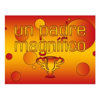 La bandera de la O.N.U Padre Magnífico España Postal