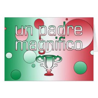 La bandera de la O.N.U Padre Magnifico Italia Tarjeta De Felicitación