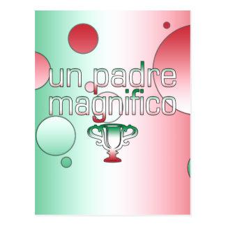 La bandera de la O.N.U Padre Magnifico Italia Tarjeta Postal