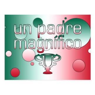 La bandera de la O.N.U Padre Magnífico México Postal
