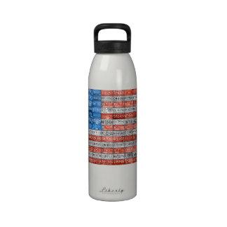 La bandera de la placa de los E E U U Michigan pl Botella De Agua Reutilizable