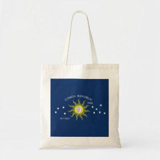 La bandera de la república de la concha bolsa tela barata