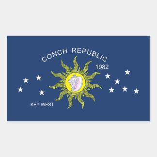 La bandera de la república de la concha rectangular altavoz