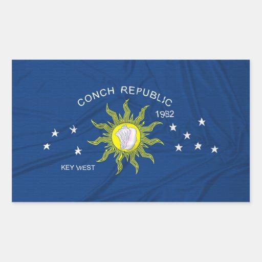 La bandera de la república de la concha rectangular altavoces