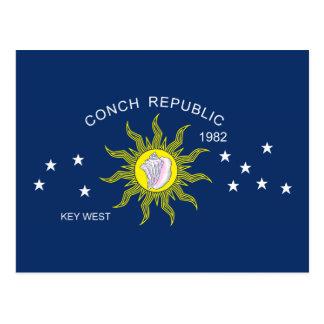 La bandera de la república de la concha postal